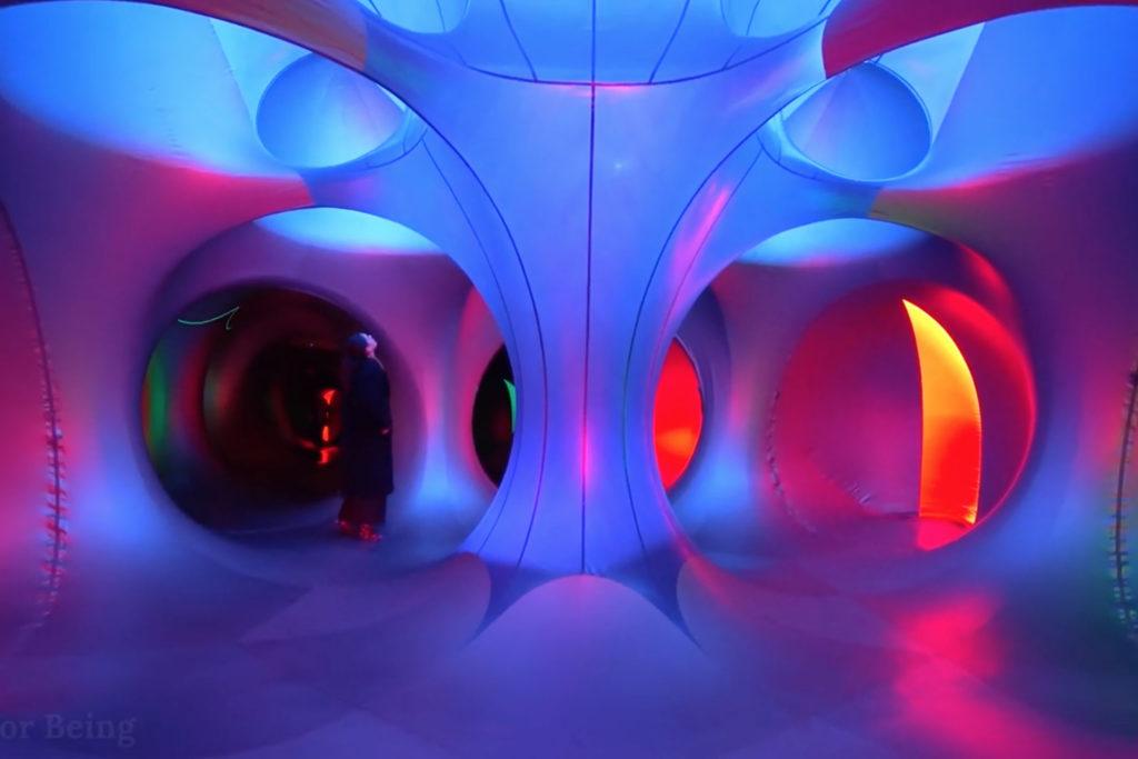 Inside the Katena Luminarium